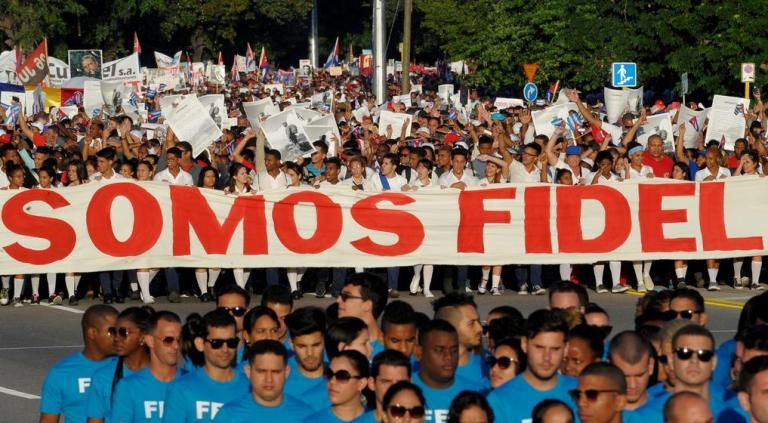 Fidel en el pueblo de Cuba