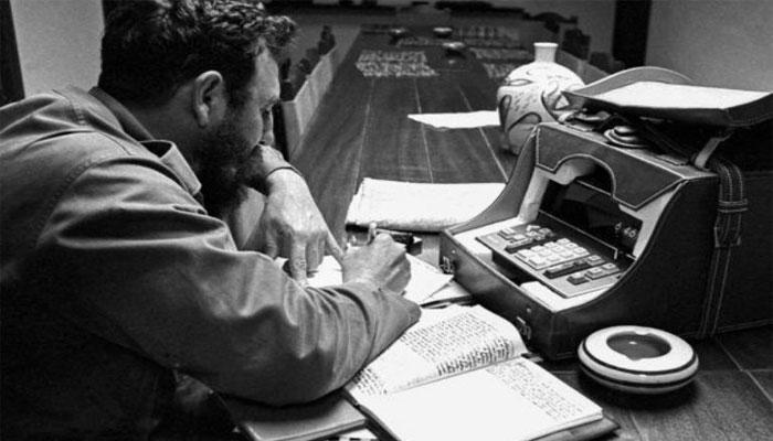 Fidel y el periodismo . Foto tomada de Cubaperiodistas
