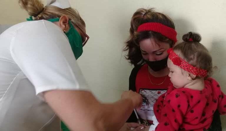 Continúa Vacunación antigripal, en Jaruco. Foto Marlene Caboverde