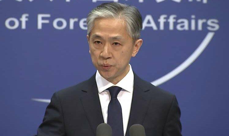 Wang Wenbin, vocero del Ministerio de Relaciones Exteriores de China.