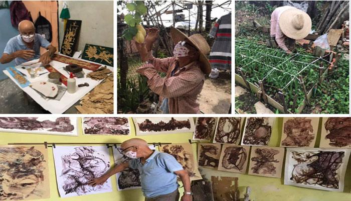 En Jaruco el instructor de arte Delnerio Ancheta Niebla combina la creación artística con la producción de alimentos. Foto Yainely Guerra