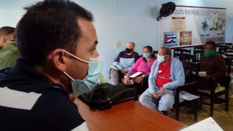 Llama Consejo de Defensa de #Jaruco a cumplir protocolo de enfrentamiento a la COVID-19.. Foto Anelis Díaz
