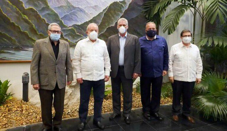 Díaz-Canel felicita al Partido de los Trabajadores de Brasil. Foto Tomada de Granma