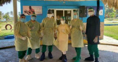 Sanitarios de #Jaruco enfrentan la COVID-19, en #Mayabeque.