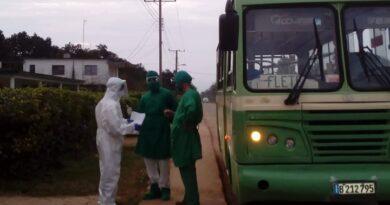 Los transportistas de #Jaruco se suman a la prevención de los contagios con el virus SARS Cov-2. Foto Yordan Díaz