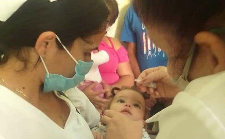 En Jaruco, comenzó la Campaña de Vacunación oral bivalente contra la poliomielitis. Foto Ofelia Padrón