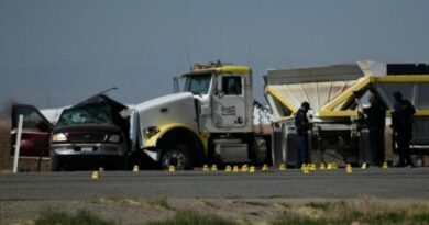 La colisión tuvo lugar a 15 kilómetros al norte de la frontera entre EE.UU. y México. Foto: La Jornada