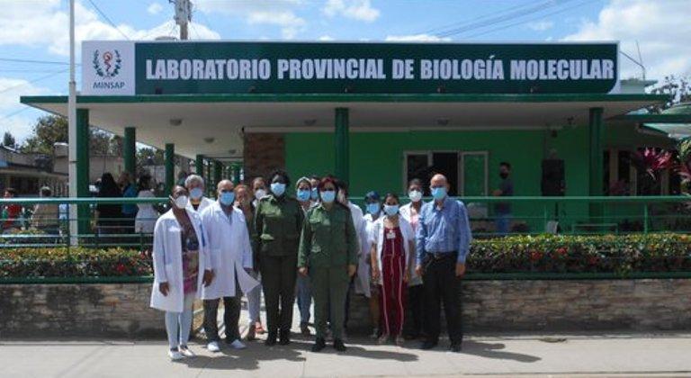 Laboratorio de Biología Molecular en Mayabeque. Foto Canal Telemayabeque