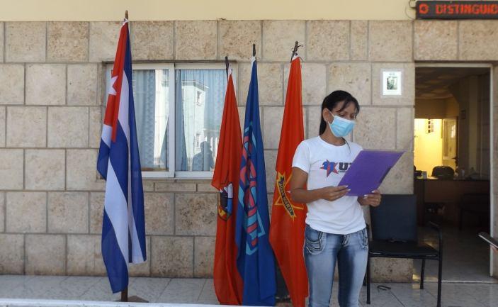 Condena juventud jaruqueña bloqueo de Estados Unidos contra Cuba. Foto Gisselle Alpizar Lorenzo