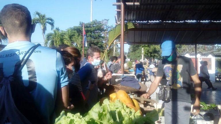 Productos agrícolas en mercado de Jaruco . Foto Anelis Díaz