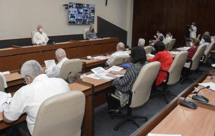 En el encuentro también se ratificó la complejidad epidemiológica que vive La Habana, donde continúa siendo elevada la cifra de contagios. Foto: Estudios Revolución