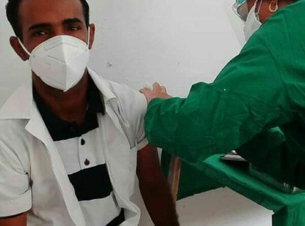 Vacunados con #Abdala 530 voluntarios en #Jaruco, hasta el 16 de mayo. Foto Marlene Caboverde.