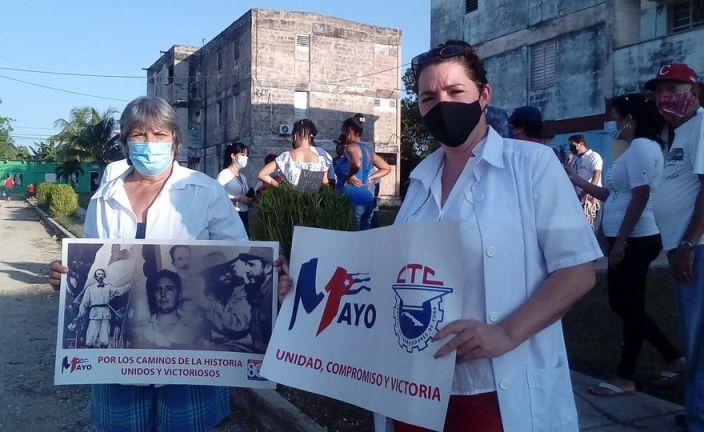 Festejaron los jaruqueños desde casa y las redes sociales el Día Internacional de los Trabajadores. Foto Anelis Díaz