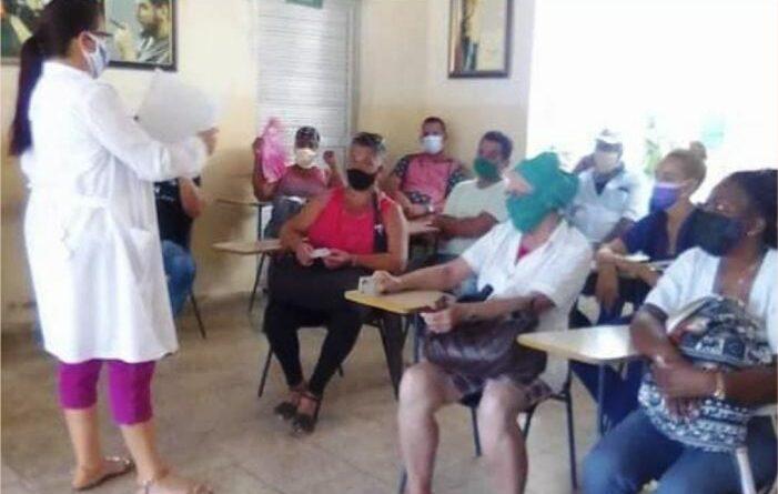 Viento en popa y a toda vela intervención sanitaria con el candidato vacunal Abdala, en #Jaruco. Foto: Ofelia Delgado Padrón