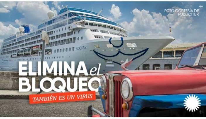 Cuba vs Bloqueo. Foto tomada de Prensa Latina