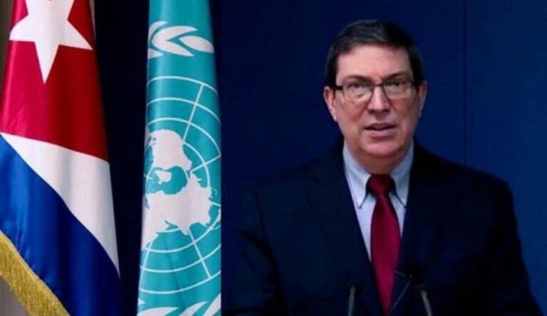 Canciller cubano durante su intervención en el Consejo de Derechos Humanos de la ONU. Foto: Prensa Latina.