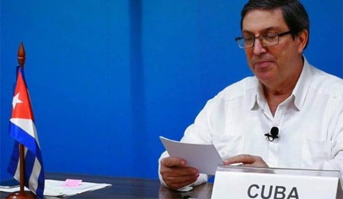 Bruno Rodríguez Parrilla, ministro cubano de Relaciones Exteriores. Foto: Cancillería de Cuba.