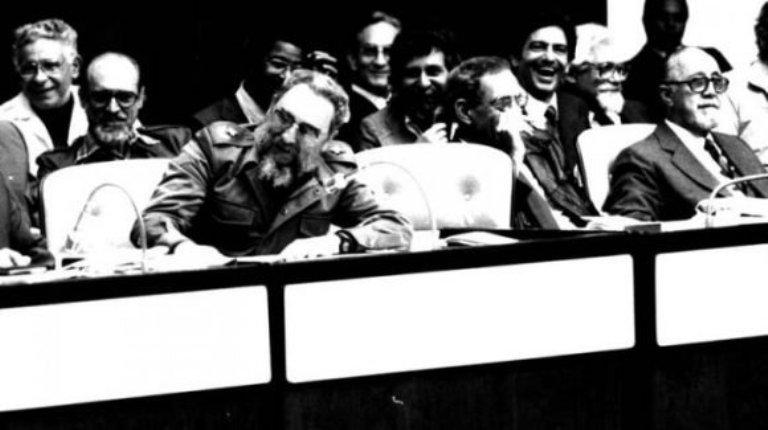 Fidel Castro en el IV Congreso de la Uneac. Granma.
