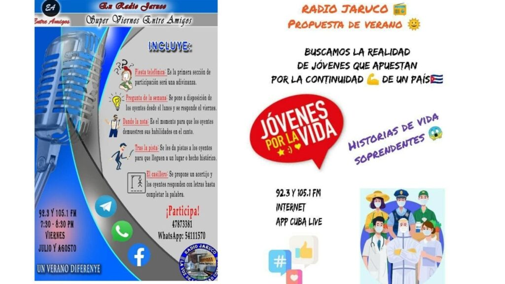 Programación de verano en Radio Jaruco. Foto Arnay Acosta
