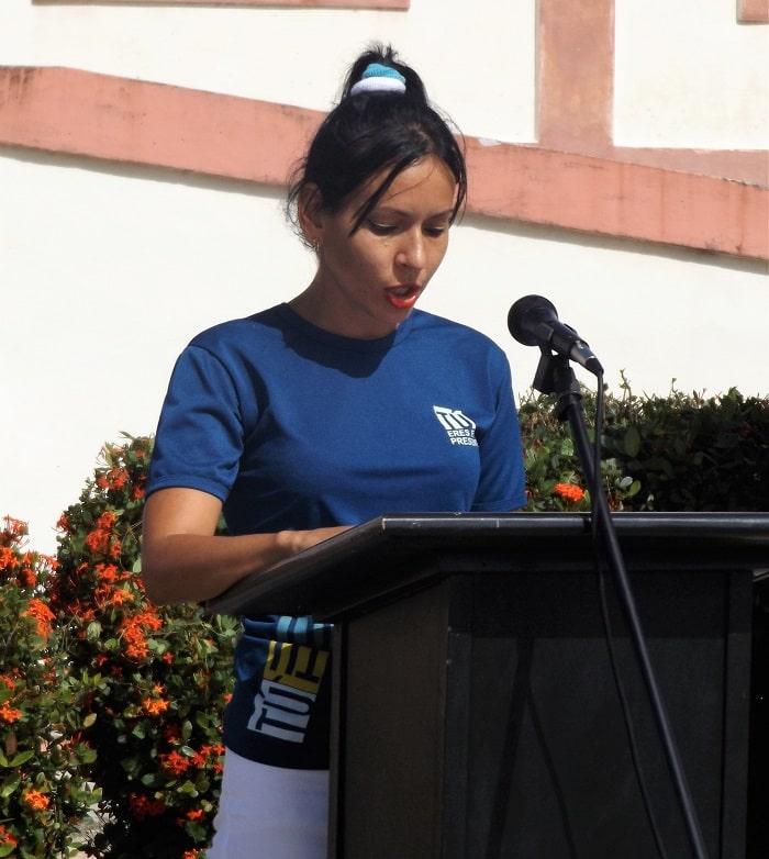 Marialis Romero Ávila, primera secretaria de la UJC en Jaruco. Foto Francisco Martínez Chao