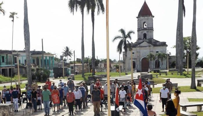 Acto por el aniversario 68 de los asaltos a los cuarteles Moncada y Carlos Manuel de Céspedes en Santiago de Cuba y Bayamo. Foto Francisco Martinez Chao