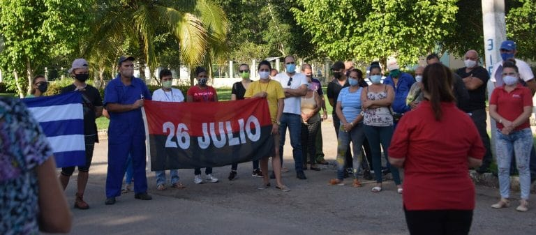 Científicos de Mayabeque protagonizaron jornada por el Día de la Rebeldía Nacional. Foto: Yudith Arredondo.