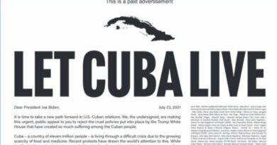 """Biden """"Deja vivir a Cuba"""", claman más de 400 personalidades de EEUU y el mundo. Foto tomada de Cubadebate"""