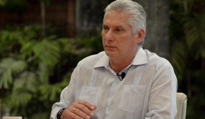 El presidente de Cuba, Miguel Díaz-Canel,