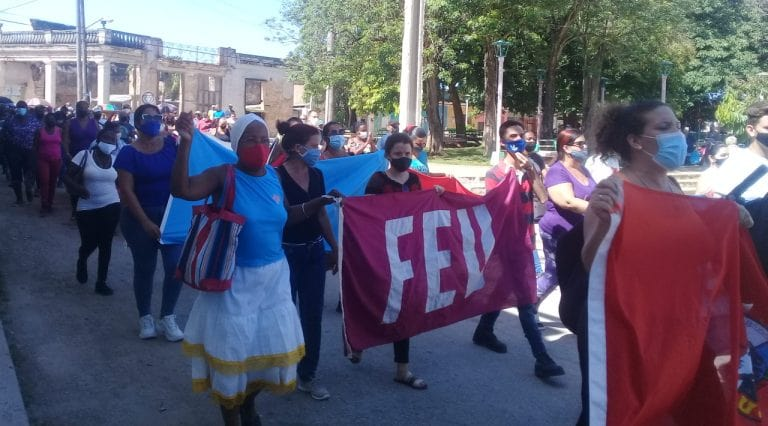 Apoyo total en Mayabeque a la Revolución y el Socialismo. Foto: Maria Elena Fernández