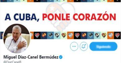 Cuenta oficial en Twitter de Díaz- Canel