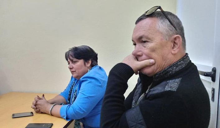 Los periodistas Andy Duardo Martín y Anelis Díaz