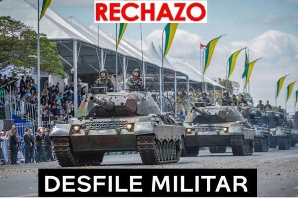 Rechazan desfile militar en Brasil con participación de Bolsonaro