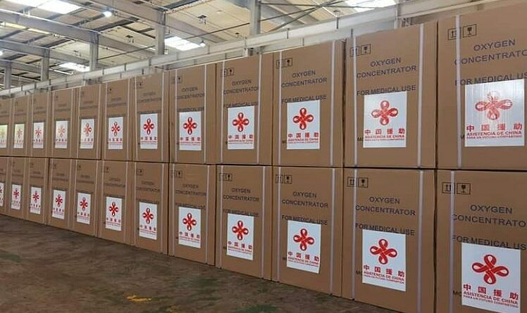 Envió China donación de 150 concentradores de oxígeno a Cuba. Foto Prensa Latina