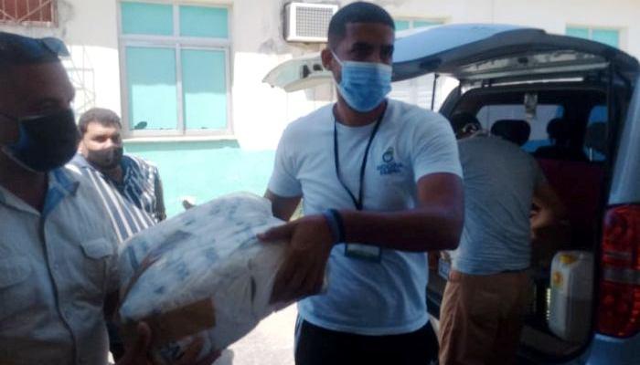 Recibió Jaruco alimentos, medicinas y otros artículos donados por BIOCUBAFARMA para apoyar combate contra la COVID-19 Foto: Anayfer Murga