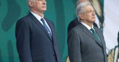 El Presidente de Cuba fue el invitado de honor a los festejos por el aniversario 211 del inicio de la gesta independentista mexicana. Foto: Tomada de Twitter