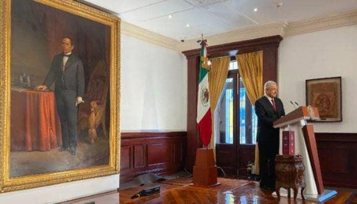 El presidente Andrés Manuel López Obrador durante la presentación de su Tercer Informe de Gobierno. Foto: EFE