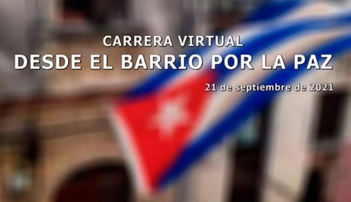 Carrera por la paz en los barrios de Cuba. Foto: 5 de septiembre.