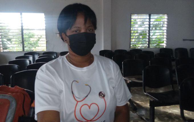 Madelein, una enfermera espirituana que enfrenta a la Covid-19 en tierra jaruqueña. Foto: Anelis Díaz.