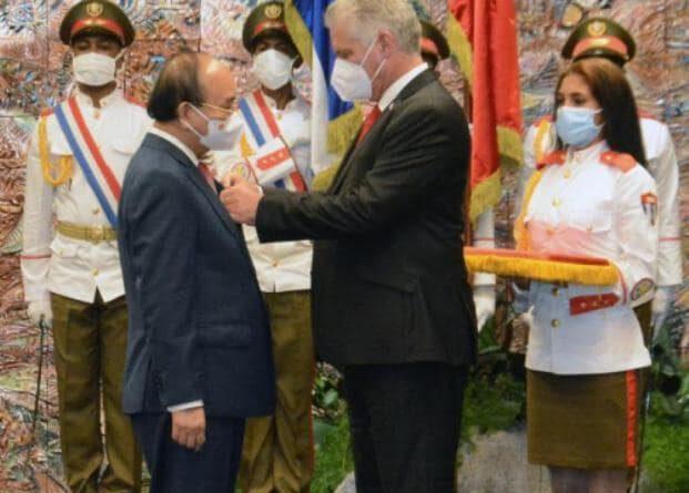 Agenda en Cuba del presidente de la República Socialista de Vietnam y miembro del Buró Político del Comité Central del Partido Comunista, compañero Nguyen Xuan Phuc Foto: Estudios Revolución