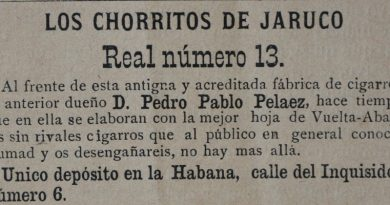 Brand cigar Chorritos de Jaruco