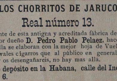 Marca de cigarros Chorritos de Jaruco
